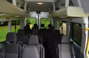 inside one of our minibuses for hire