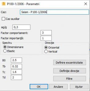 Parametri seismici P100