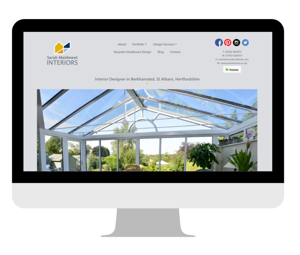 Website Design for Small Businesses - Sarah Maidment Interiors by Bird On Wire