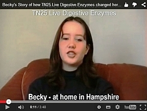 Becky's story about her help from TN25 Live Enzymes