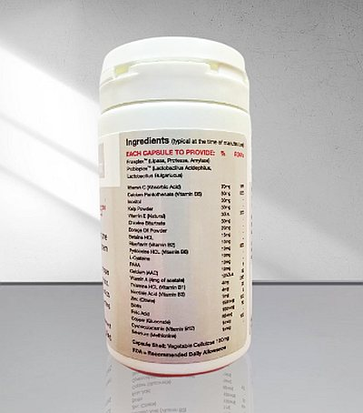 Eucaderm TN25 Live Enzymes content