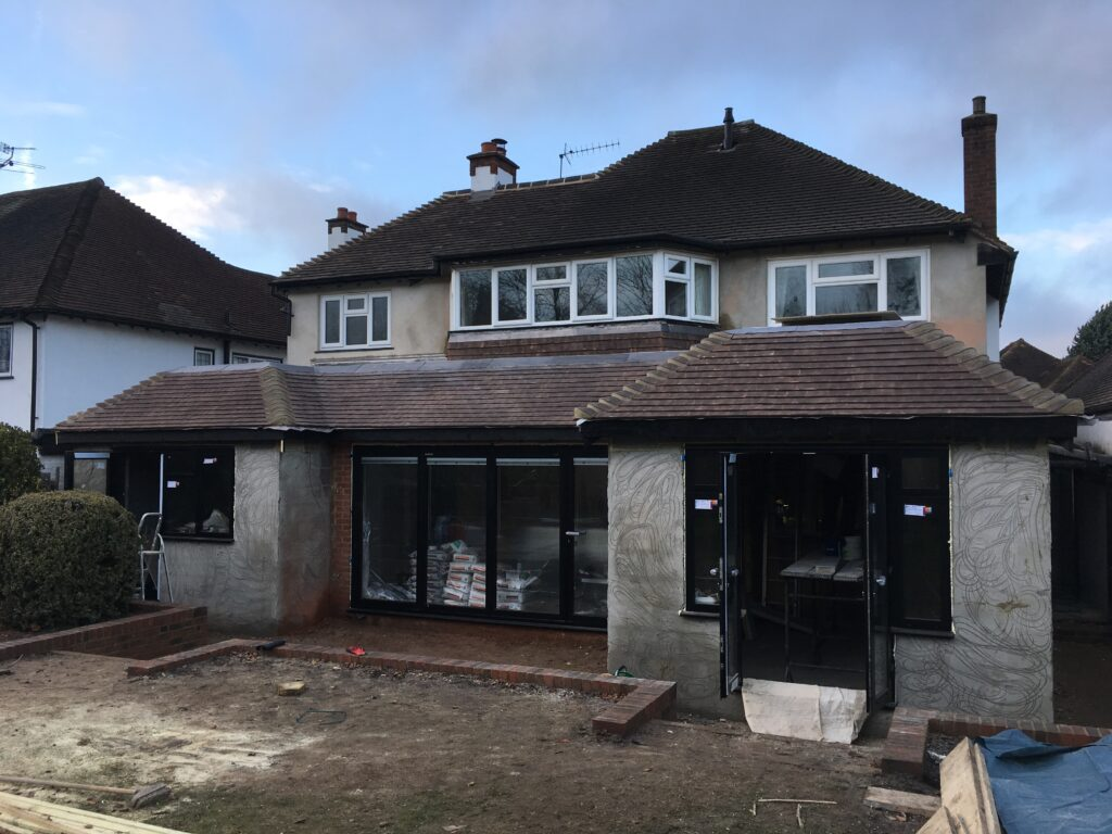 Diouble storey side and single storey rear addition Cheam