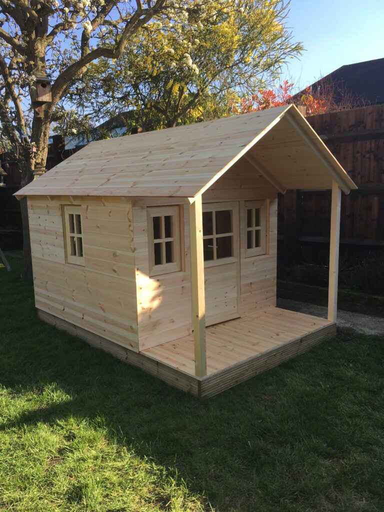 Handmade childrens play house prior to decoration