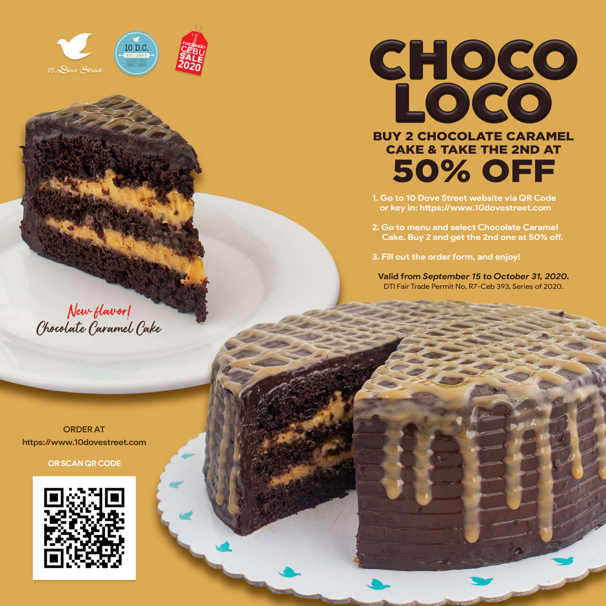 10 Dove Street offers buy 1 cake, get 2nd one at 50% off