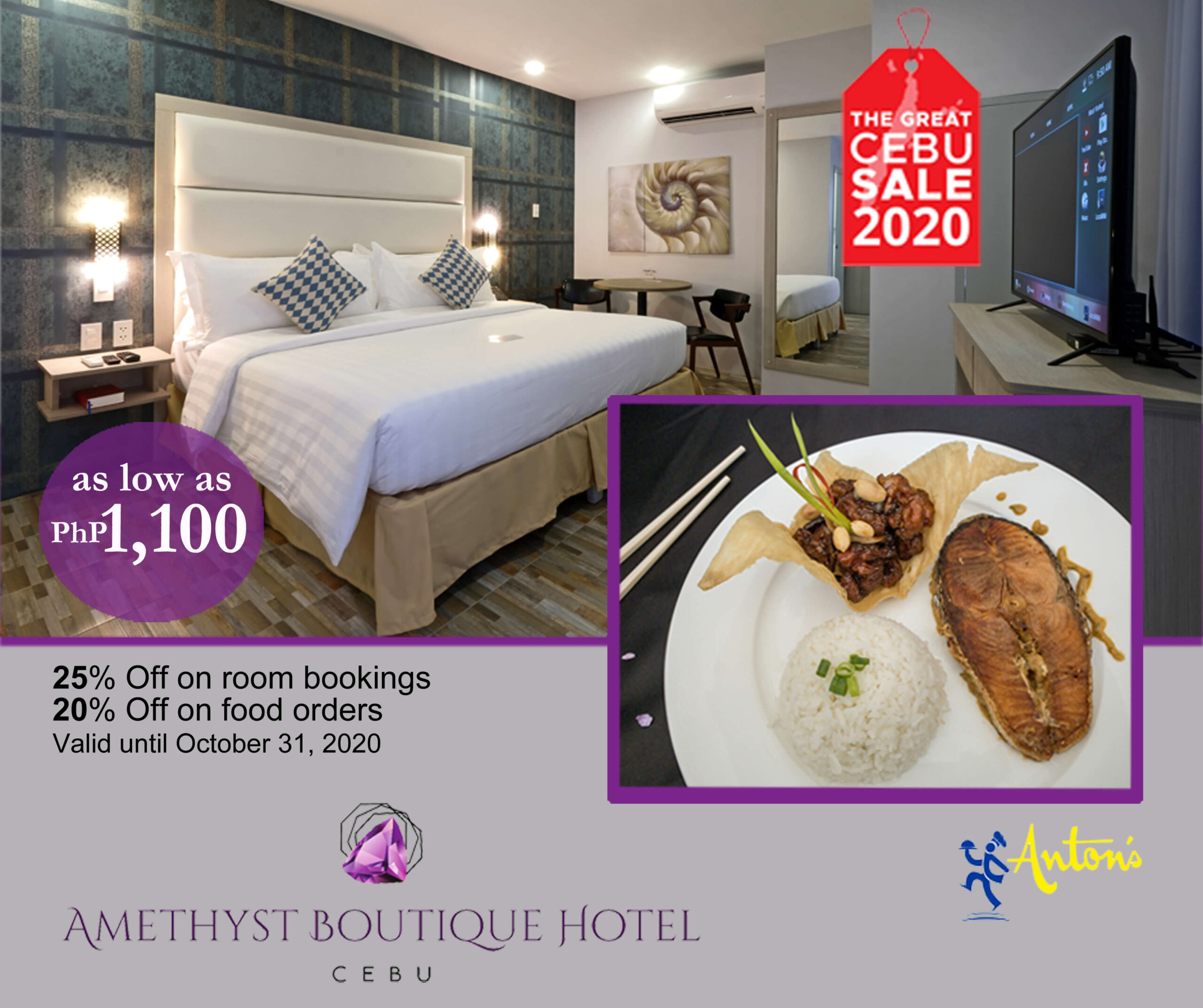 Amethyst Boutique Hotel: As low as P1,100