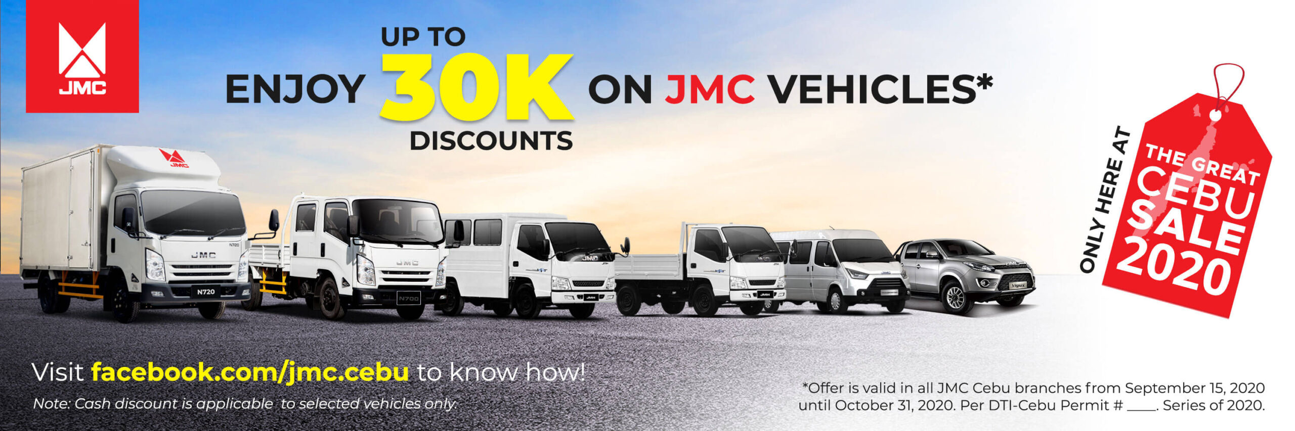 JMC Cebu offers up to P30K discount on vehicles