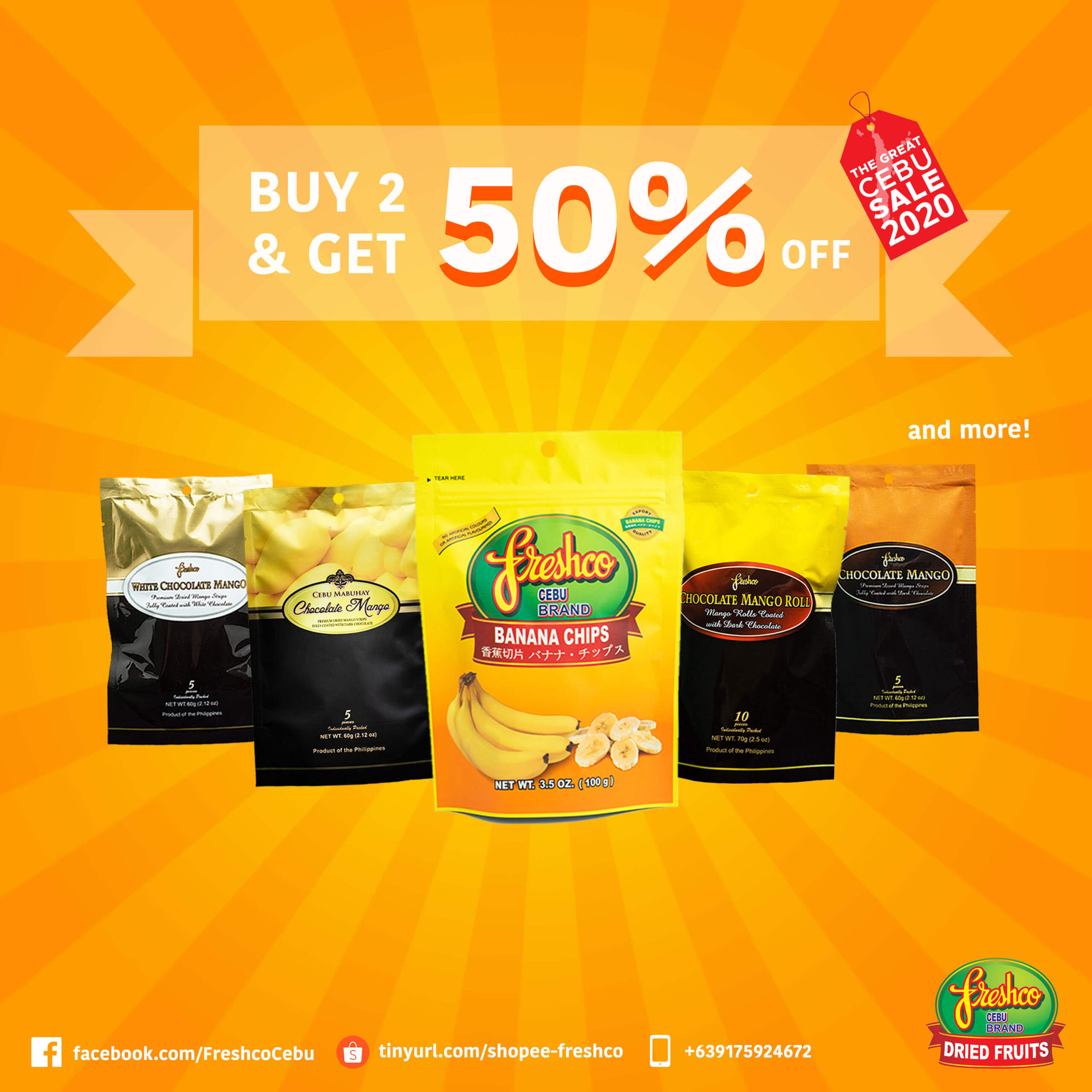 Freshco offers buy 2 and get 50% off promo