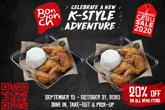 Bonchon: 20% off on all items