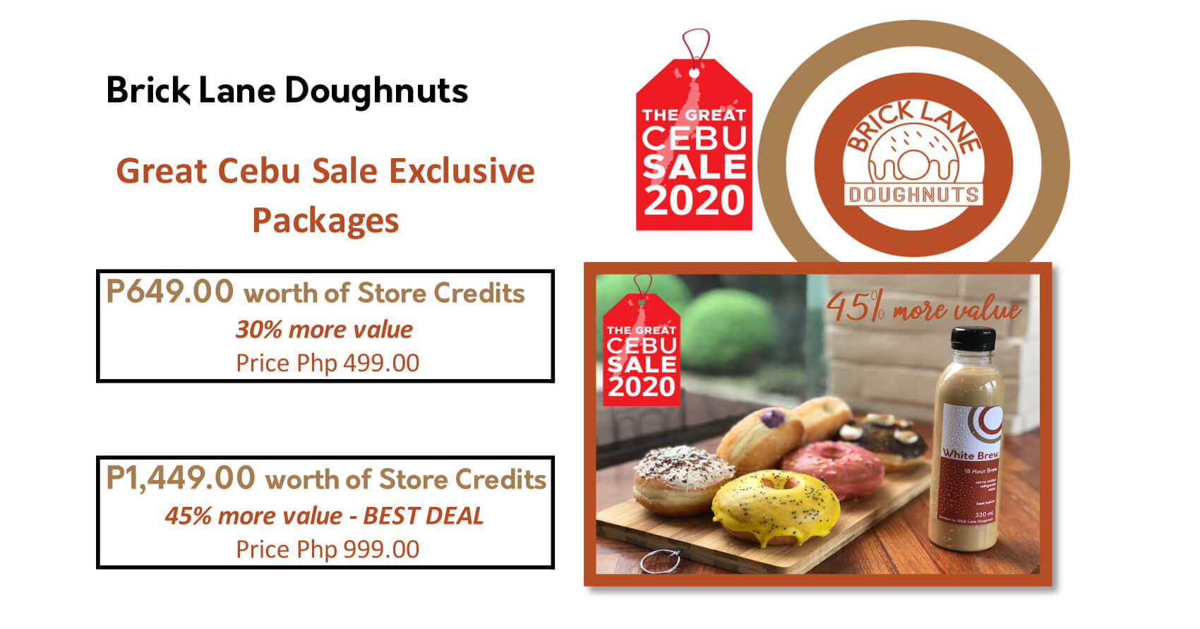 Brick Lane Doughnuts offers exclusive sale packages