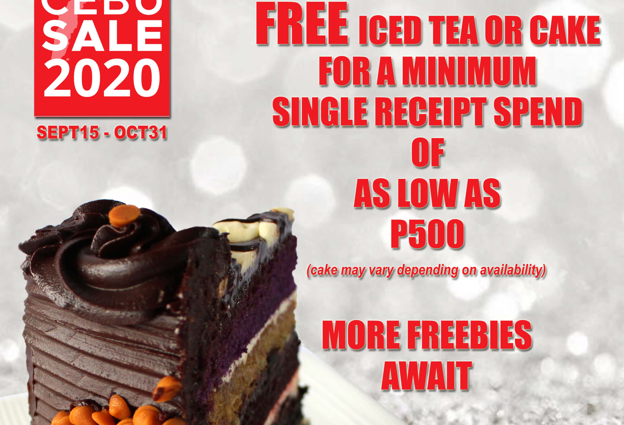 Dessert Factory offers free iced tea or cake