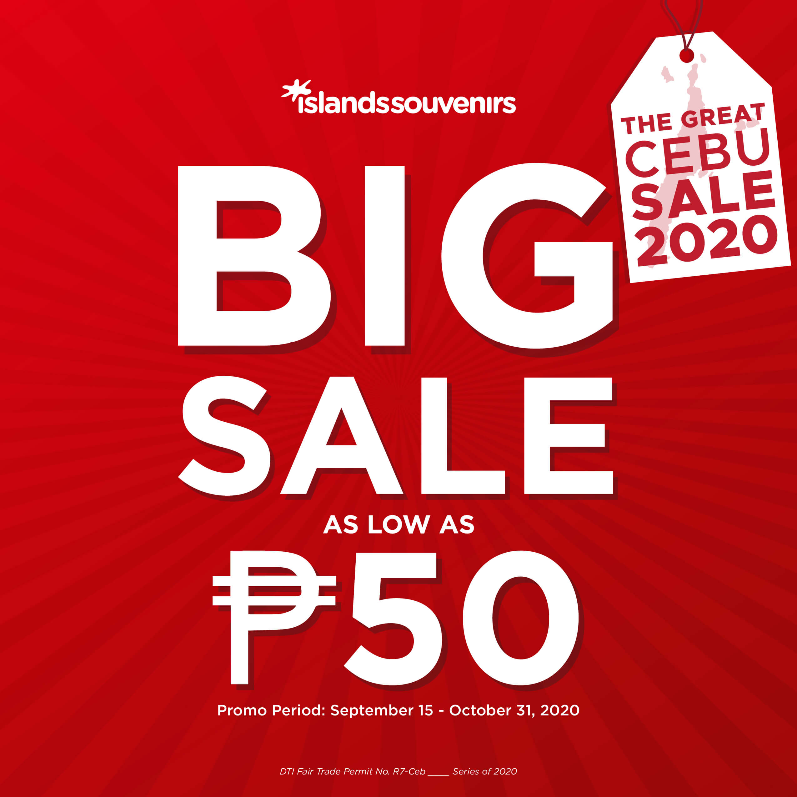 Islands Souvenirs offers items on sale for as low as P50