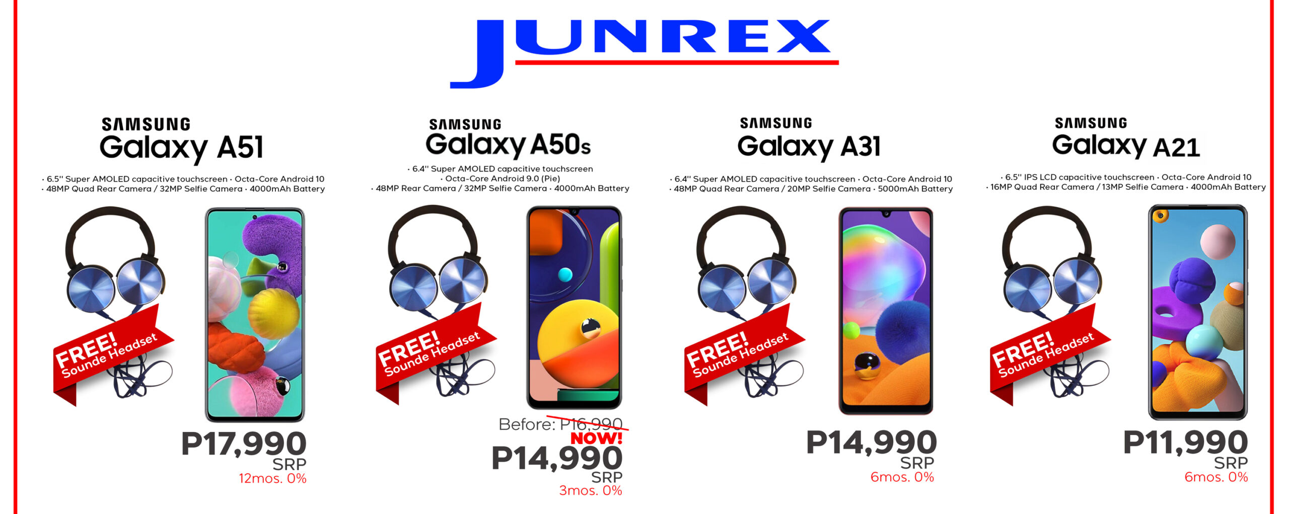Junrex offers free items for purchases of gadgets