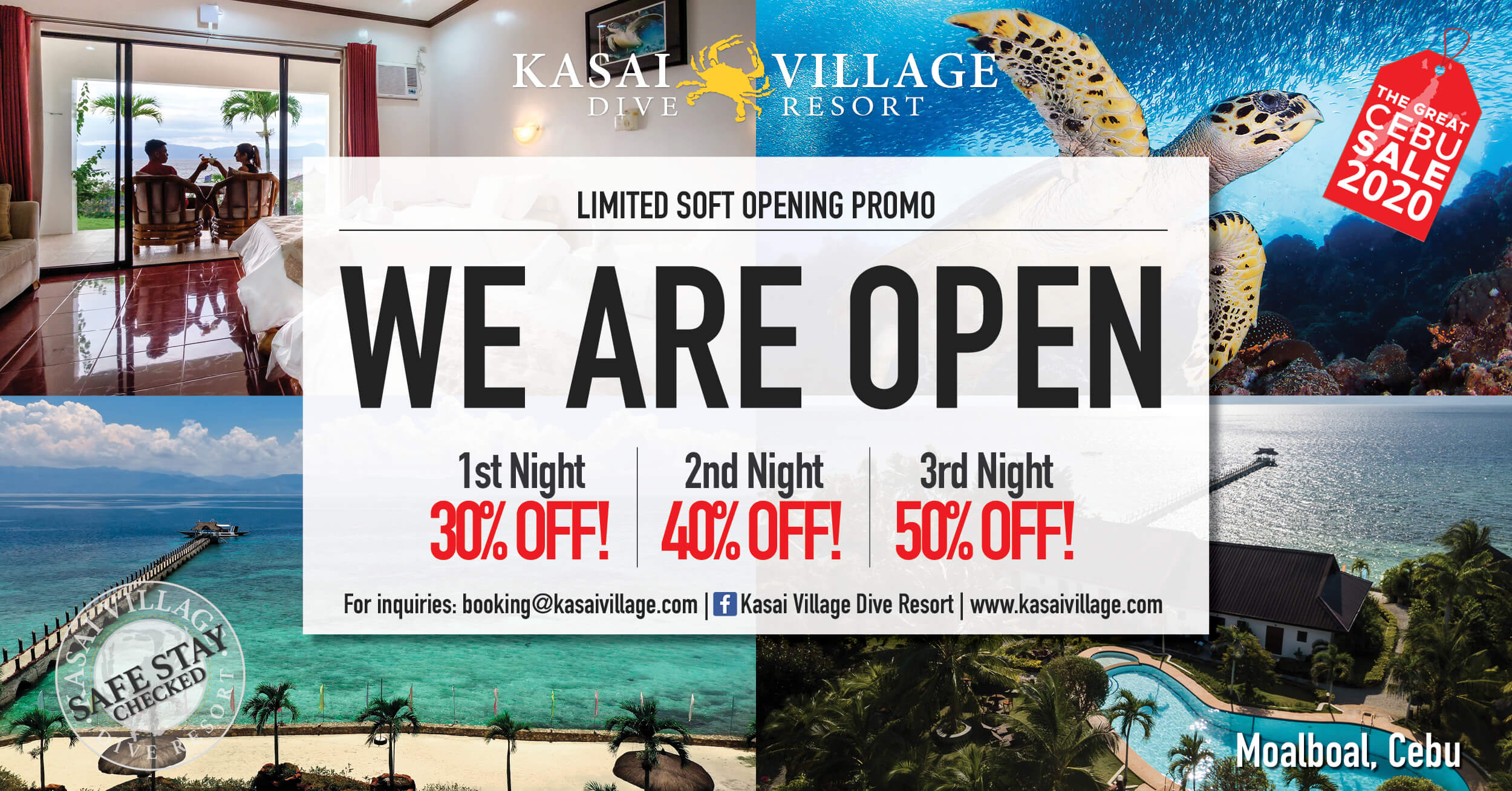 Kasai Village Dive Resort offers up to 50% off in soft opening promo