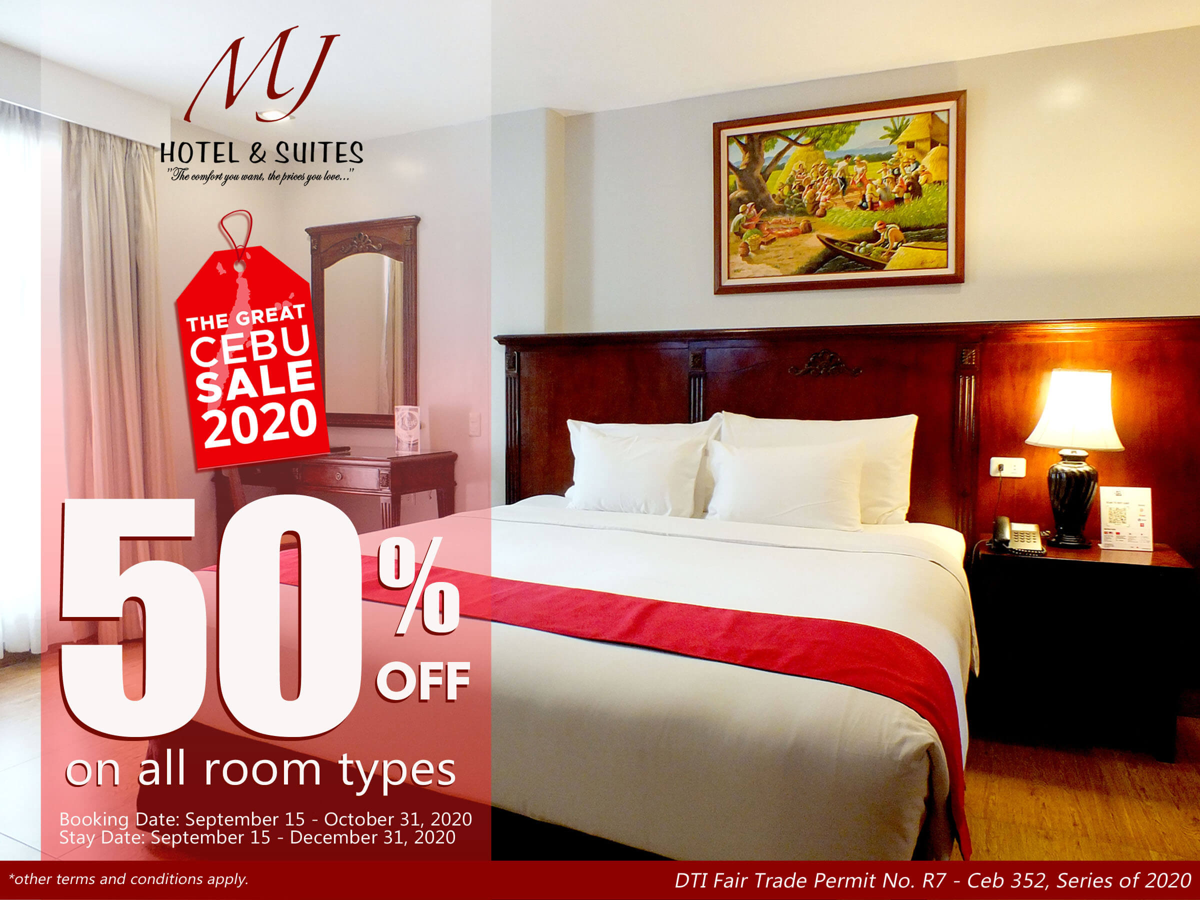 MJ Hotel & Suites offers up to 50% off on all room types