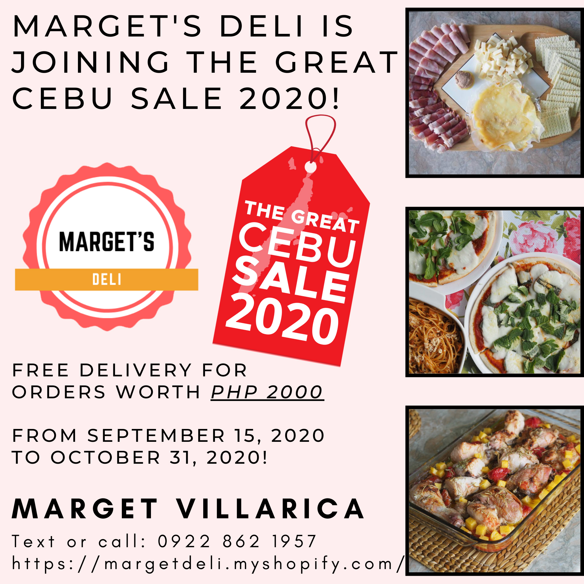 Marget's Deli offers free delivery for orders worth P2,000