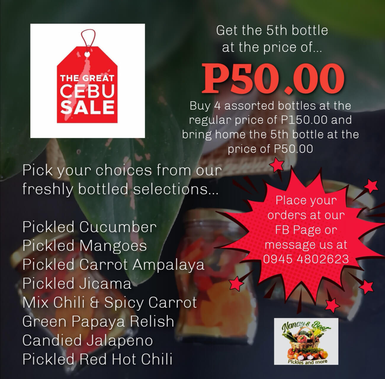 Nanay's Best offers bottled food promo