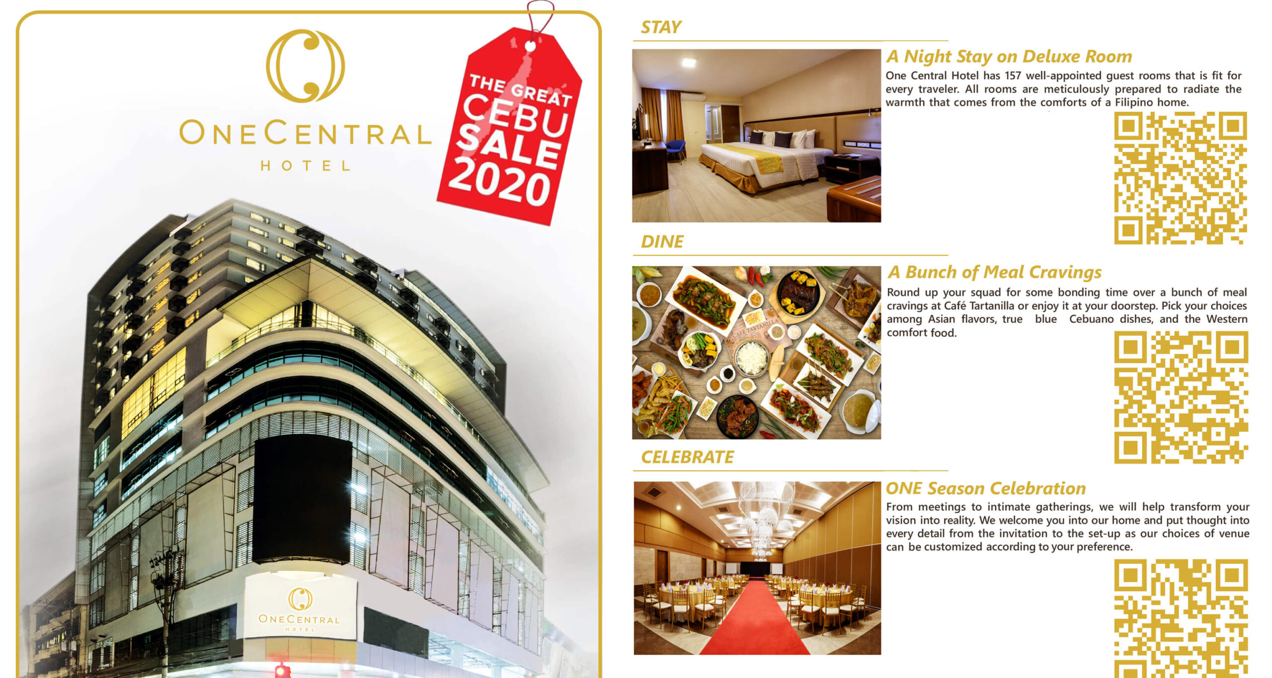 One Central Hotel offers 50% off on stay, dining promos
