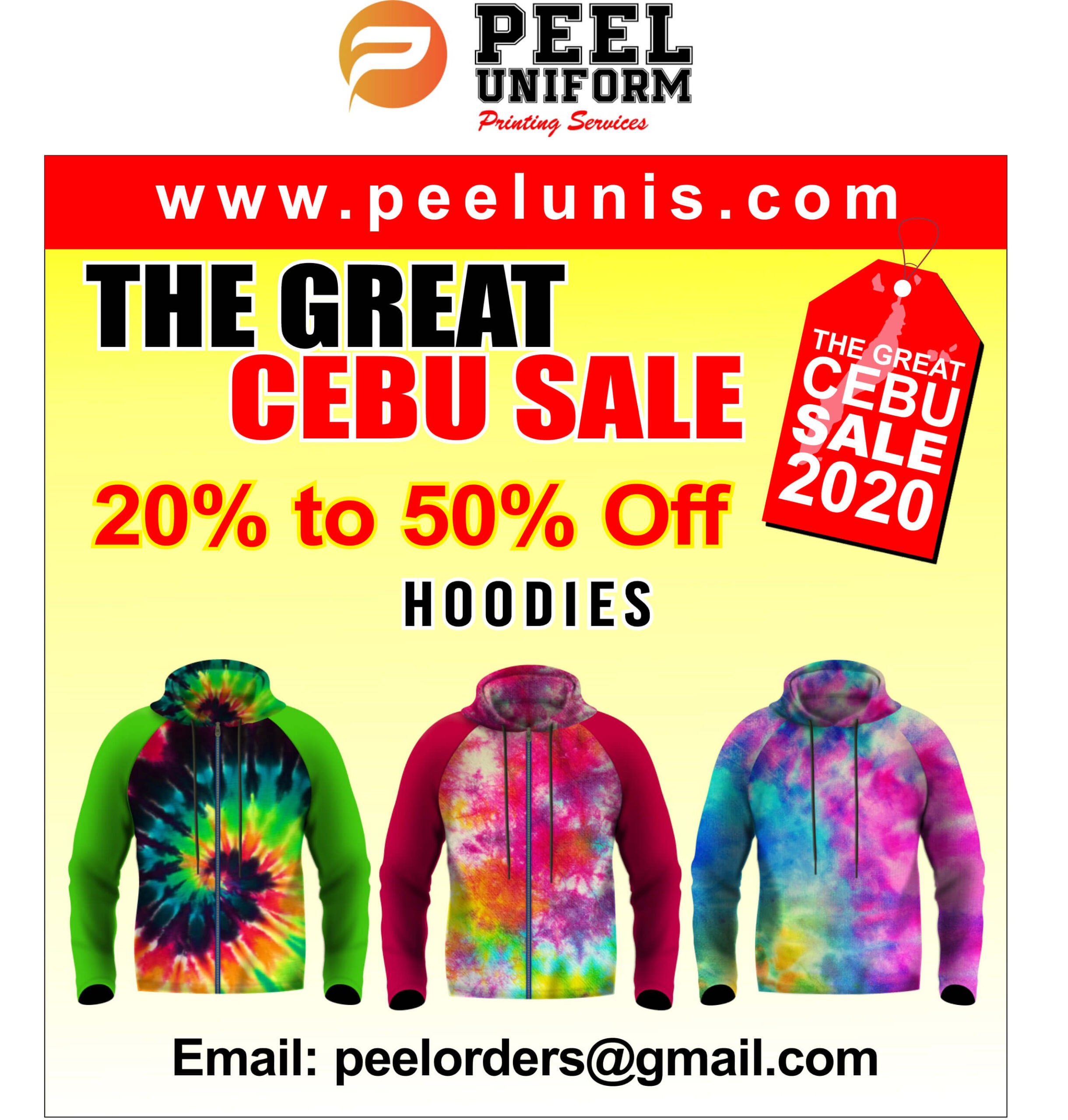 Peel Uniforms offers from 20% to 50% discount on shirts, hoodies, etc.