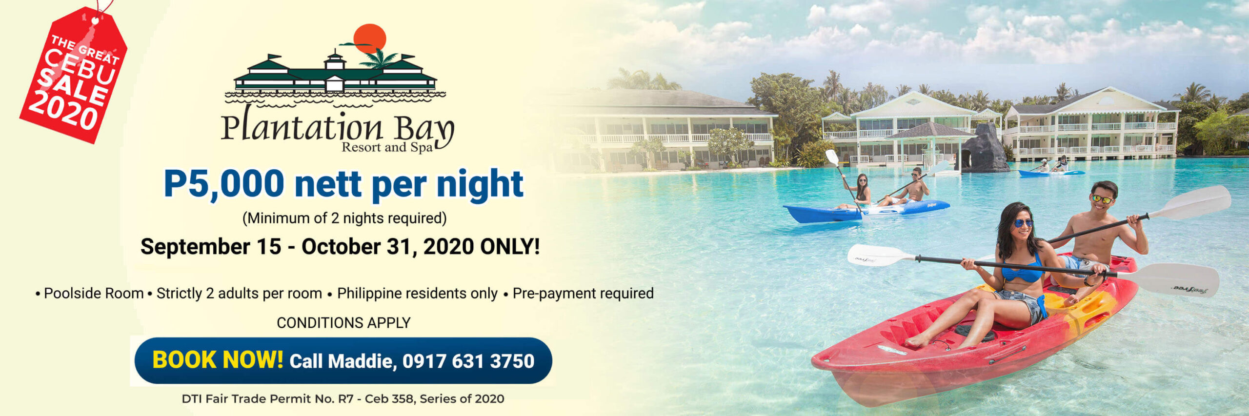 Plantation Bay offers poolside room package