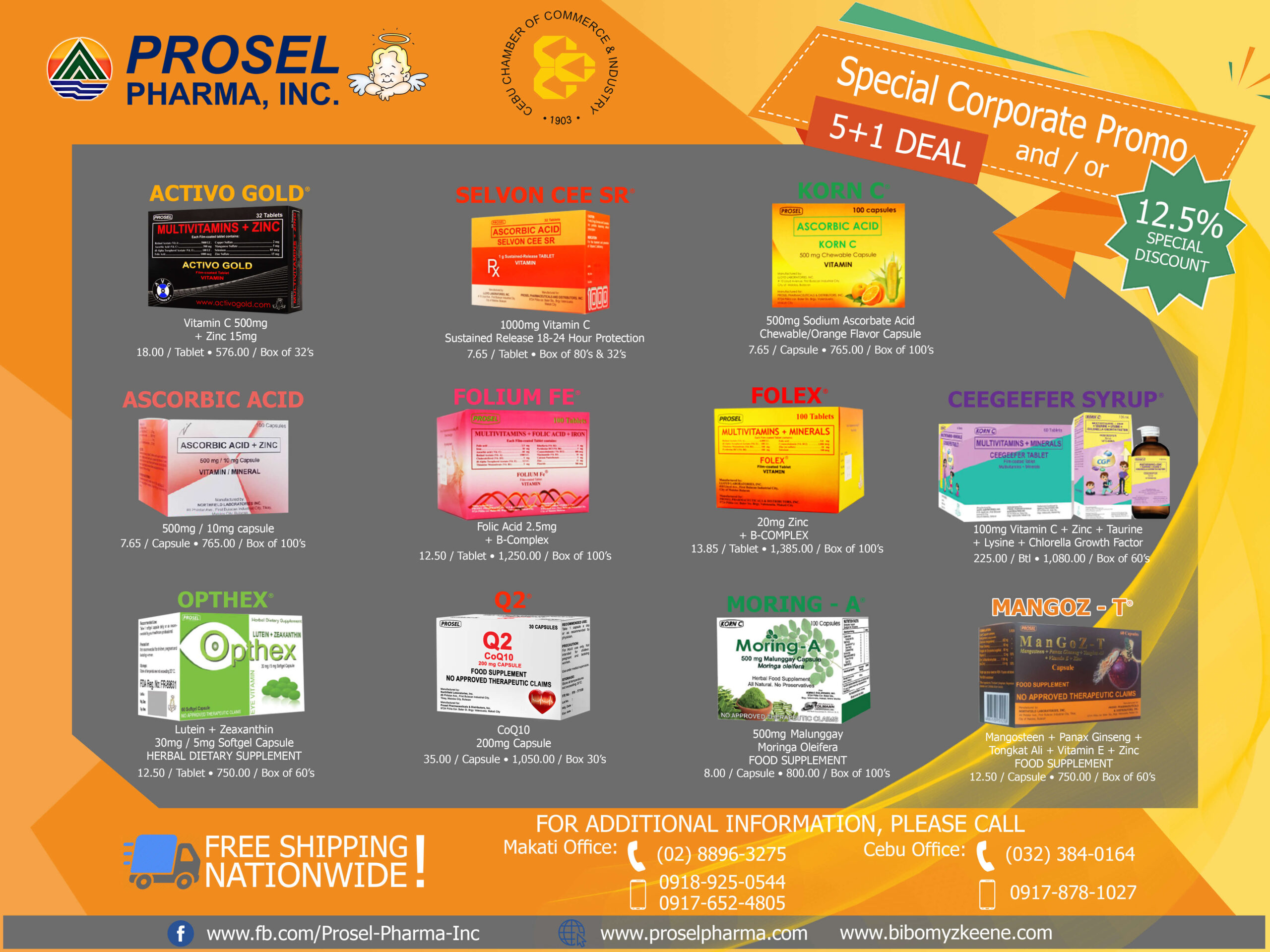 Prosel Pharma offers special discount