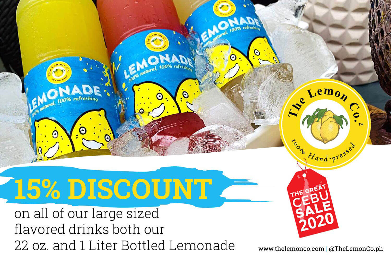 The Lemon Co. offers 15% discount