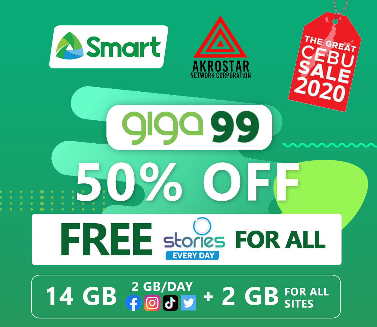 Get more data with Smart's Giga offers