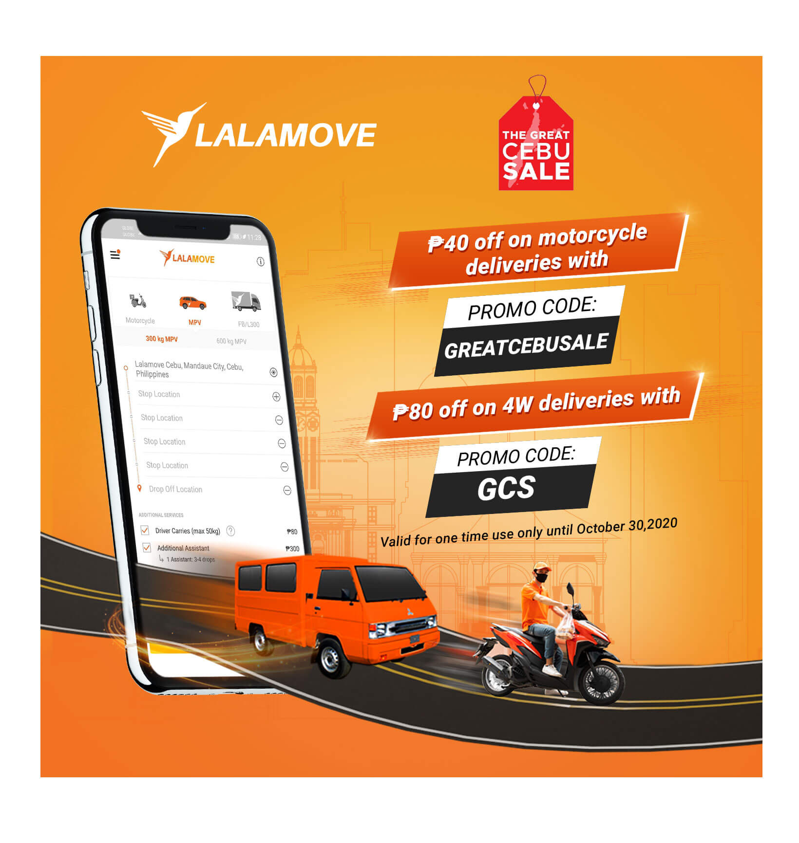 Get discounts on your deliveries via Lalamove