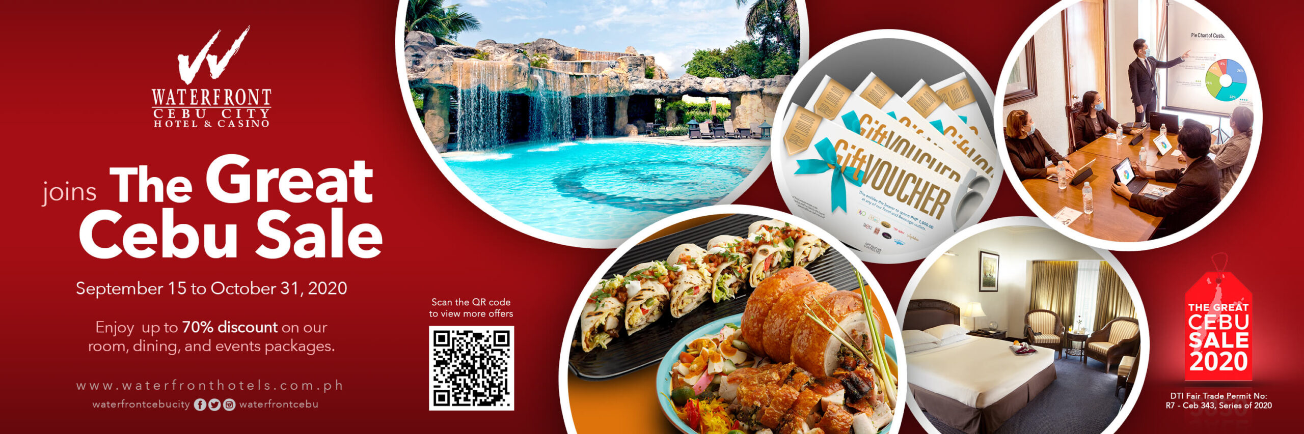 Waterfront Cebu City Hotel & Casino offers up to 70% discount on rooms, dining, events packages