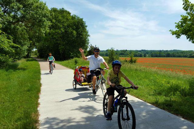 famille vélo  vacances