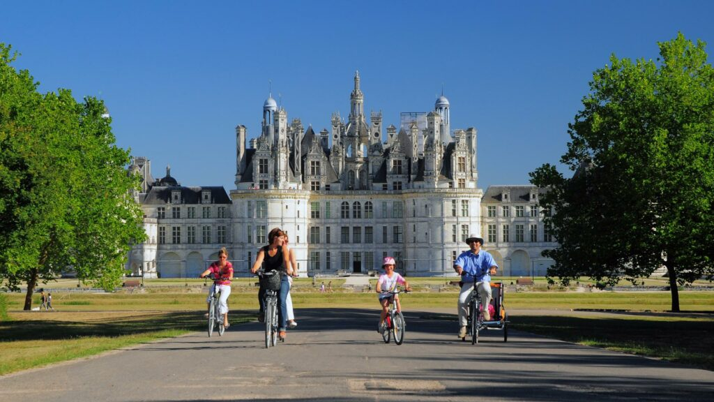 Famille visite Chateau Chambord