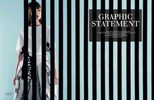 Graphic statement fashion editorial