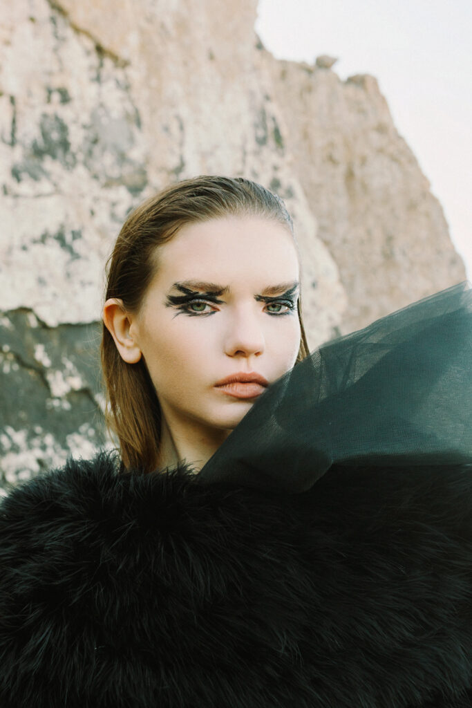 black bird fashion editorial