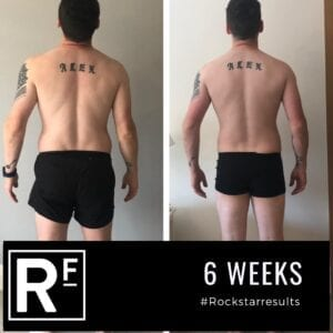 6 week body transformation london - Before and after - Alex 2