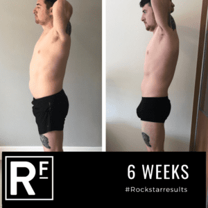6 week body transformation london - Before and after - Alex 3