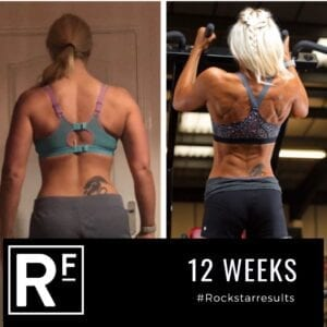 10 week body transformation london - Before and after - Leanne Photoshoot