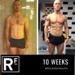 10 week body transformation london - Before and after - Duncan