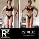 22 week body transformation london - Before and after - Female Comp prep