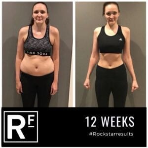 12 week body transformation london - Before and after - Sam