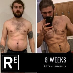 6 week body transformation london - Before and after-Danny