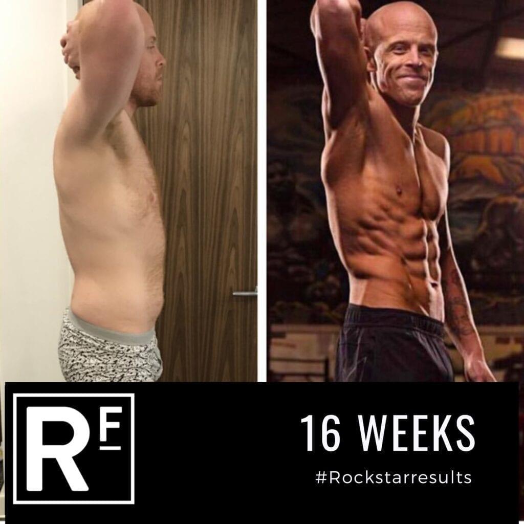 16 week body transformation - london - Tom