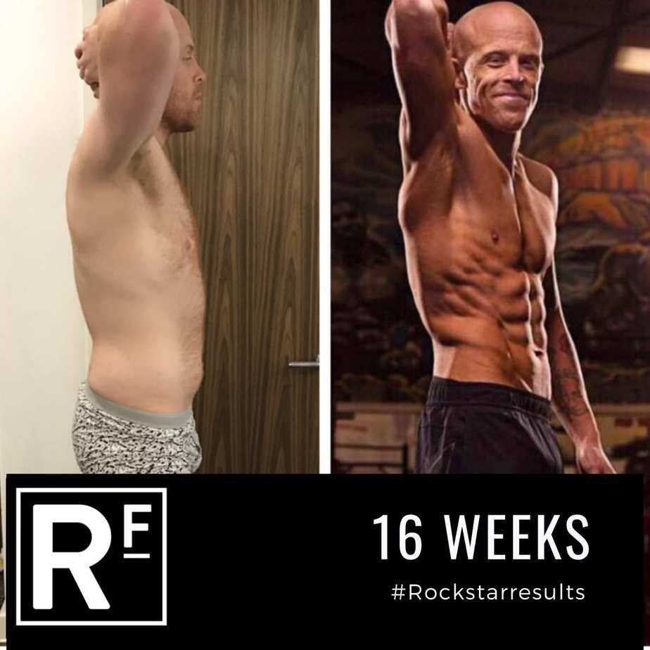 16 week body transformation - london - Tom