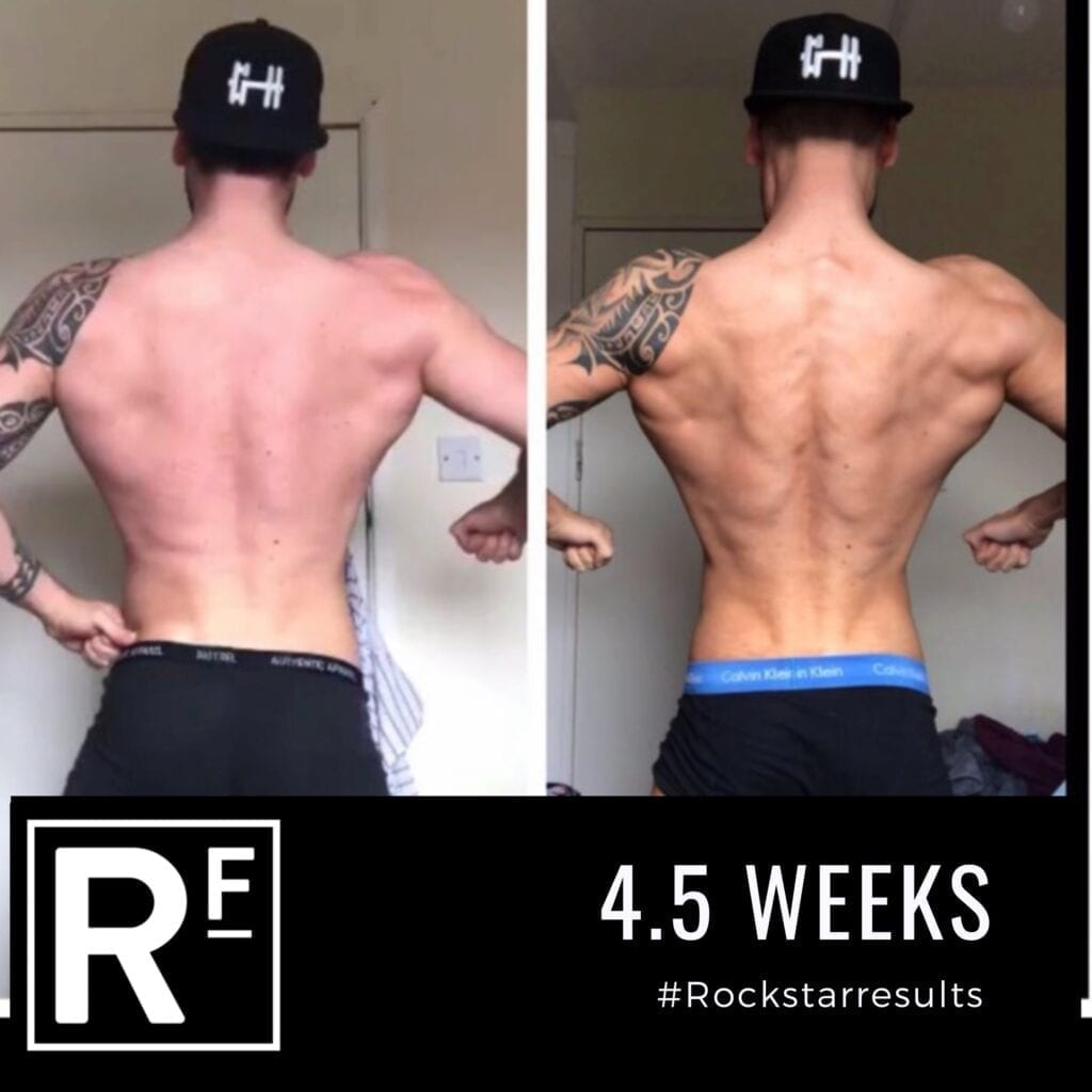 4.5 week body transformation london - Before and after - Simon