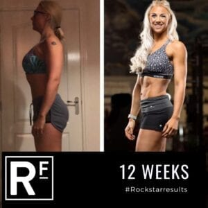 12 week body transformation london - Before and after - Leanne