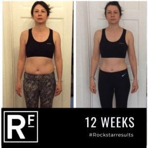 12 week body transformation london - Before and after -Andrea