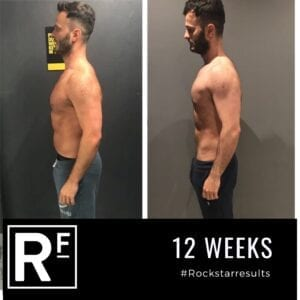 12 week body transformation london - Before and after-Michael