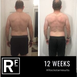 12 week body transformation london - Before and after - Simon