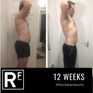 12 week body transformation london - Before and after - Simon 2