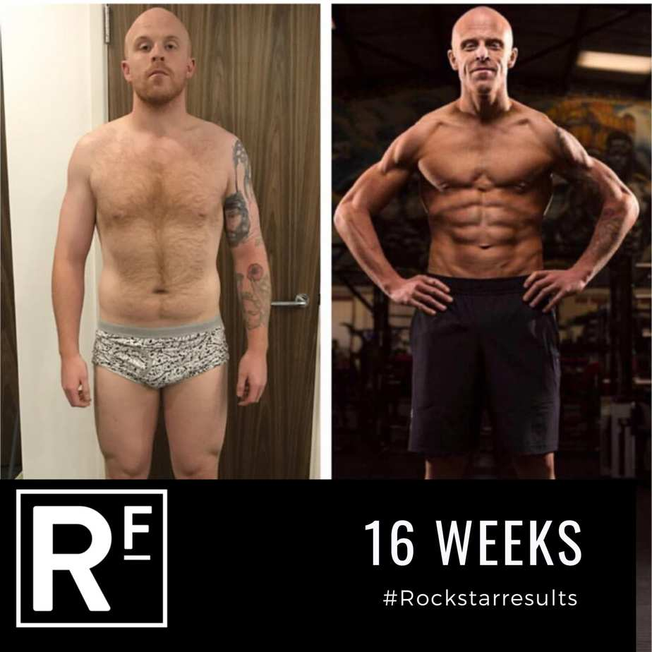16 week body transformation - london - Tom Photoshoot