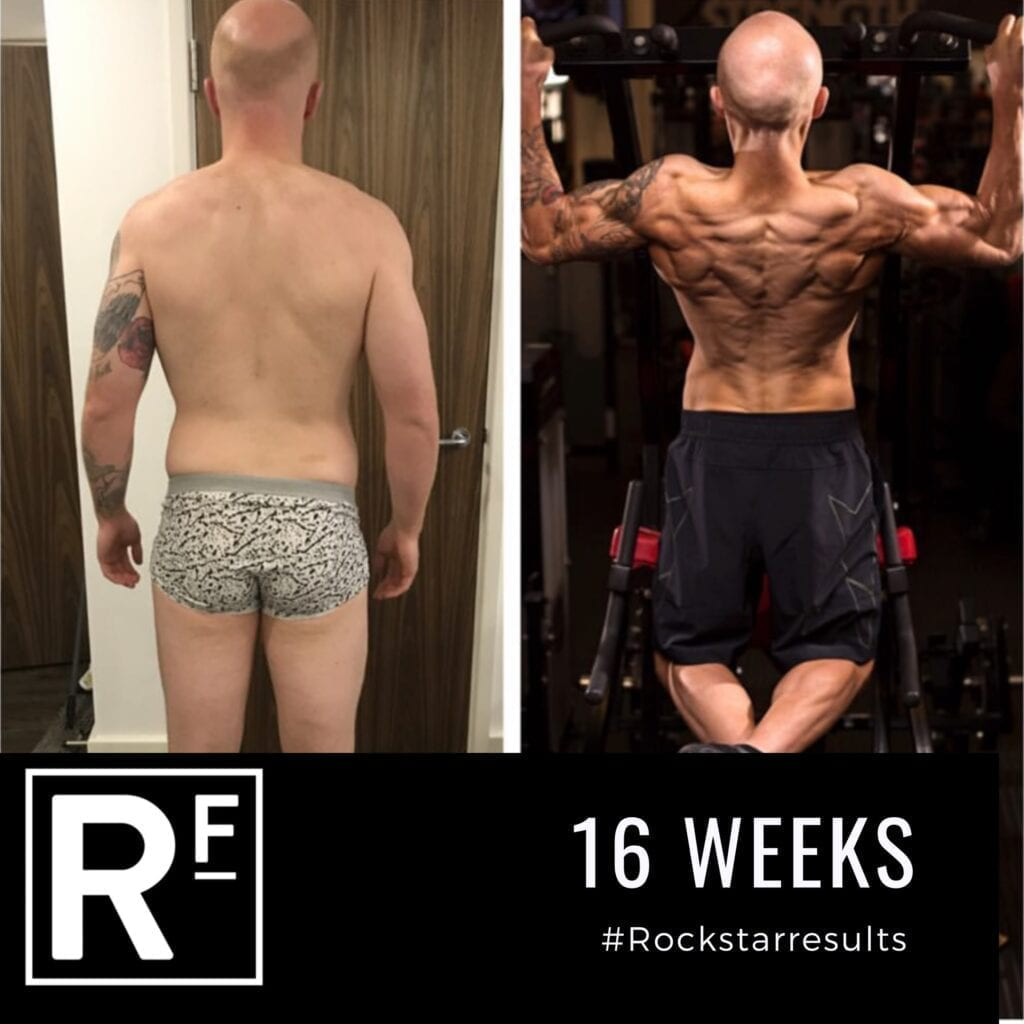 16 week body transformation london - Before and after - Tom Photoshoot