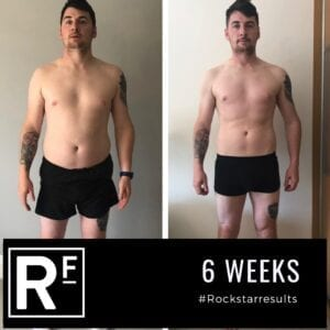 6 week body transformation london - Before and after-alex